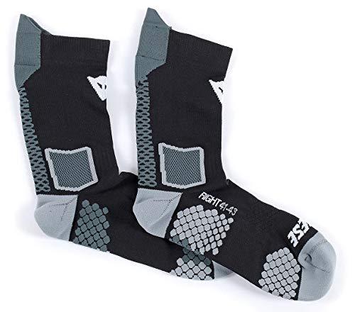 Dainese-D-CORE MID calcetín, Negro/Antracite, Talla M