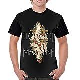 Florence and The Machine T Shirt Men Short Sleeve Tee Classic Baseball Sports T-Shirt Black