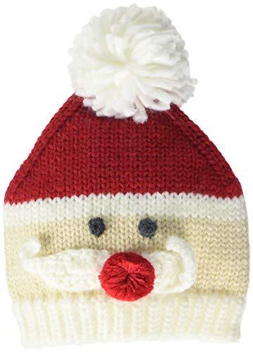 Mud Pie Baby Boys' Santa Knit HAT, red, 06-18 Months