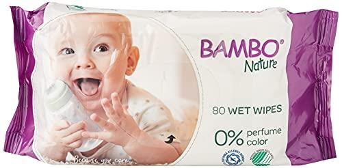 BAMBO Toallitas Humedas Desechables Para Bebe Bambo 150 g