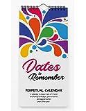 Inkdotpot Salpicadura De Color Calendario Perpetuo Rústico Colgante De Pared Aniversario...