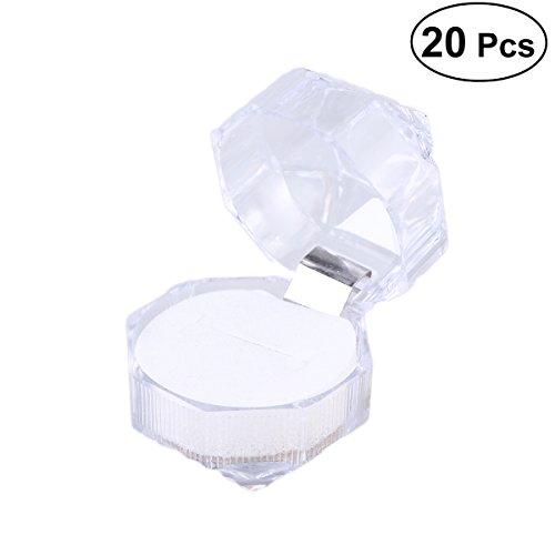 20 peças de acrílico para embalagem de joias, caixa de presente transparente, noivado, casamento, pingente de colar (branco)