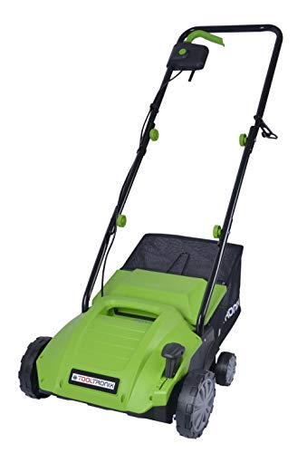 ToolTronix 1500W 2 in 1 Electric Scarifier Lawn Rake Aerator 32cm Width 4...