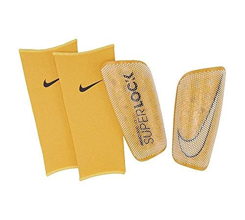 Nike - Espinilleras de fútbol Mercurial FlyLite Superlock blanco L