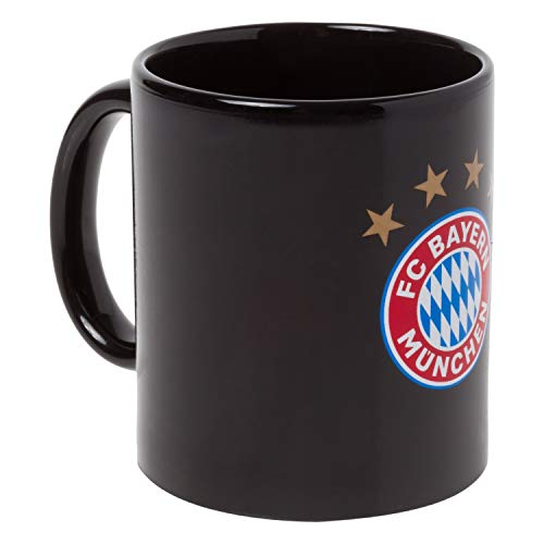 Bayern München Tasse - Magic Logo bunt - Zaubertasse, Kaffeetasse FCB - Plus Lesezeichen I Love München