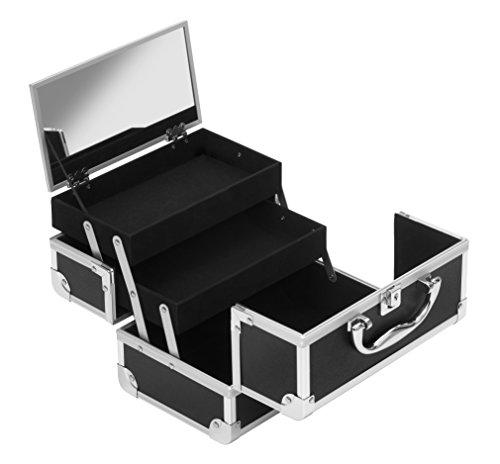 Scopri offerta per Clauss valigetta portatrucco/portagioie, nero