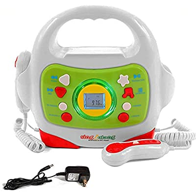 IQ Toys MP3 Player and Karaoke Machine with 2 Microphones Music Player for Kids - Bluetooth/MP3/USB/Micro SD Connection by IQ Toys