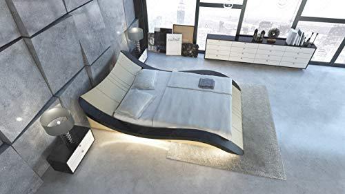 Sofa Dreams Camas de Agua Fráncfort en Cuero con Iluminación Led