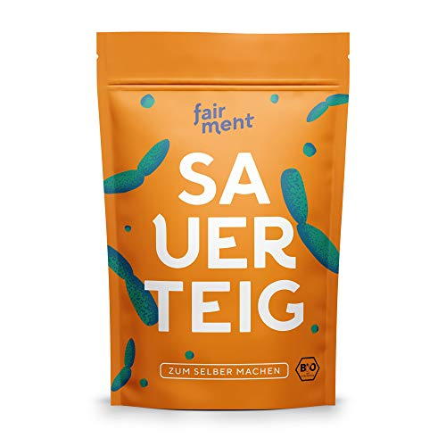 Bio Sauerteig Starter von fairment, frische Sauerteig Kultur aus Roggen, vegan, unpasteurisiert, pastös