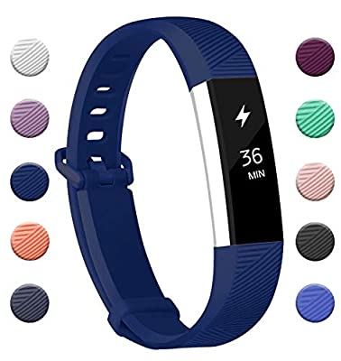 Fundro Replacement Bands Compatible with Fitbit Alta and Fitbit Alta HR, Newest Sport Strap with Secure Metal Buckle Wristband