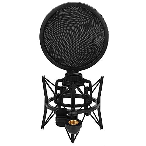 Soporte de micrófono portátil, soporte de micrófono, escritorio ajustable para estudio de sonido de transmisión(Portavasos alto para micrófono SH101)