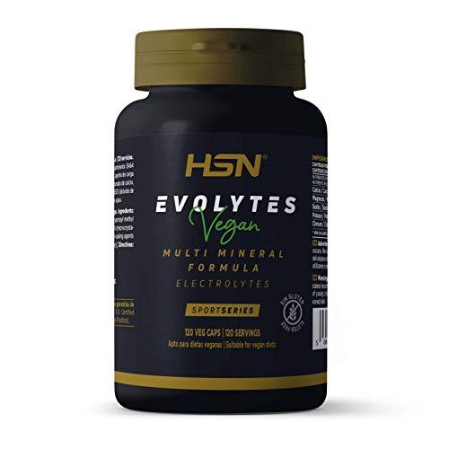 Sales Minerales Electrolitos en pastillas de HSN Evolytes | Hidratación para Corredores, Ciclismo, Evitar Calambres | No-GMO, Vegano, Sin Gluten, Sin Lactosa | 120 Cápsulas Vegetales