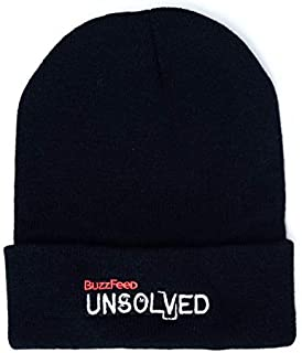 BuzzFeed Unsolved Logo Winter Beanie Black