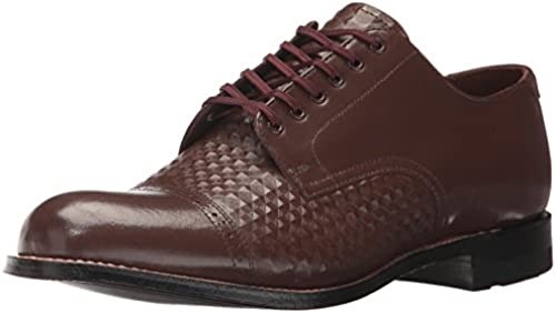 STACY ADAMS Men& 039;s Madison Cap Toe Oxford, braun, 11 US 11 D US