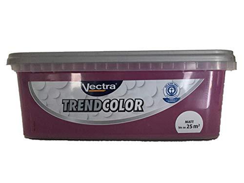 Vectra Trend Color Bunte Wandfarbe matt 2,5 Liter FARBWAHL, Farbe:berry