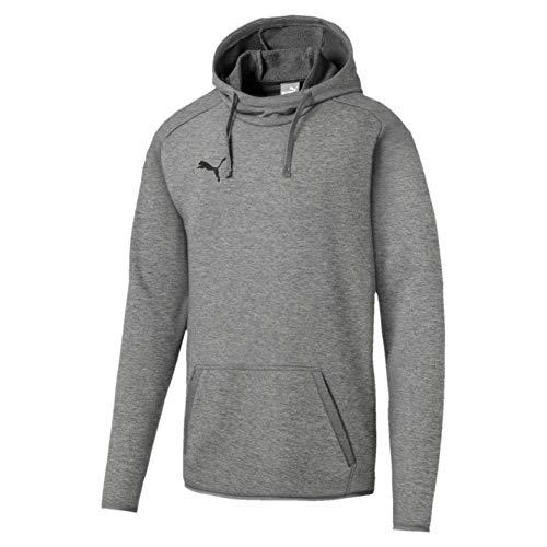 Puma Liga Casuals Hoody, Sweatshirt Uomo, Medium Gray Heather Black, XL