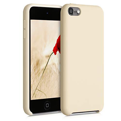 kwmobile Carcasa Compatible con Apple iPod Touch 6G / 7G (6a y 7a generación) - Funda Protectora de Silicona - Case Trasero en Blanco Marfil