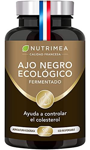 Ajo Negro Fermentado Nutrimea l Bajar Colesterol Antioxidante Natural   90 Cápsulas de Origen Vegetal Fabricado en Francia