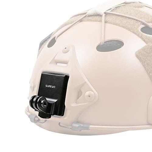 SUREWO Casco de aluminio NVG Mount compatible con GoPro Hero 9/8/7/(2018)/6/5/4 Negro, APEMAN, Campark, DJI Osmo Action y la mayoría de las cámaras de acción