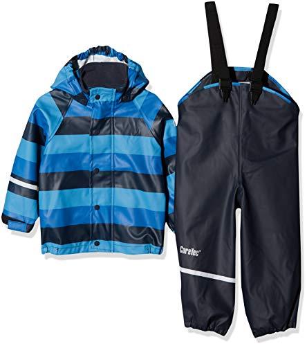 CareTec Kinder wasserdichte Regenlatzhose und -jacke im Set (verschiedene Farben), Mehrfarbig (Dark Navy 778), Herstellergröße: 80