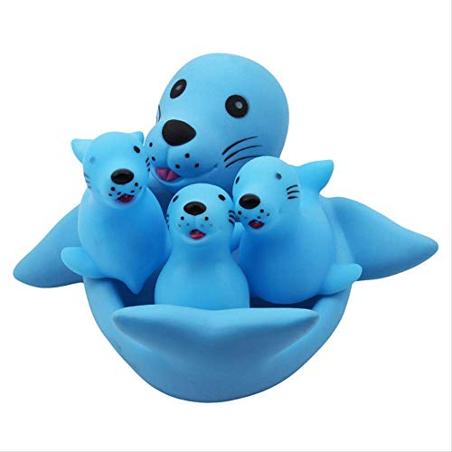 Ylout Belle Maman et bébé Caoutchouc Course Race Family Bath Toy, Kid Game Toys 1 Big 3 Petit Animal prenant Douche Toy