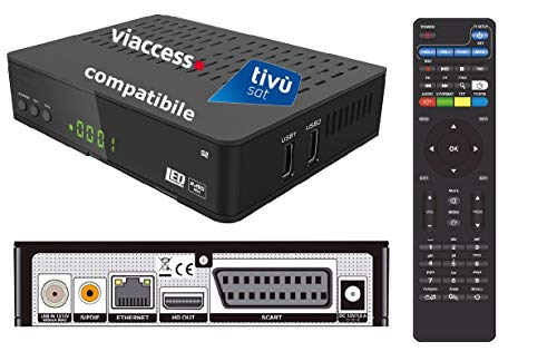 Decoder Satellitare HD compatibile con tessera Tivusat è con tessere Viaccess Digiquest Bware 540 545