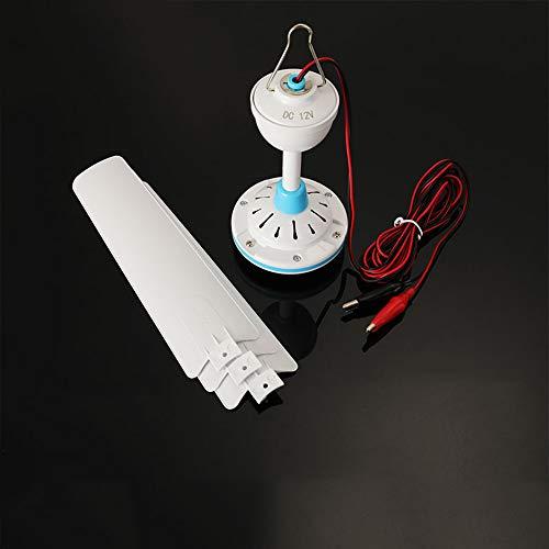ceiling fan Ventilador de Techo DC 12v pequeño, Ventilador de batería, Ventilador Micro Repelente de Mosquitos para enfriamiento al Aire Libre