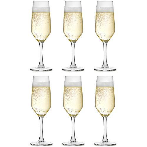 Libbey Verre à champagne Varna - 18 cl / 180 ml - Lot de 6 - Forme classique - Haute qualité - Vont au lave-vaisselle