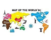 WENXIU Officeの旅行代理店ウォールステッカー、世界地図ウォールデコレーション、装飾的な背景スティック壁、3Dアクリルパズル(150/250分の200/300センチメートル) (Size : 200cm)