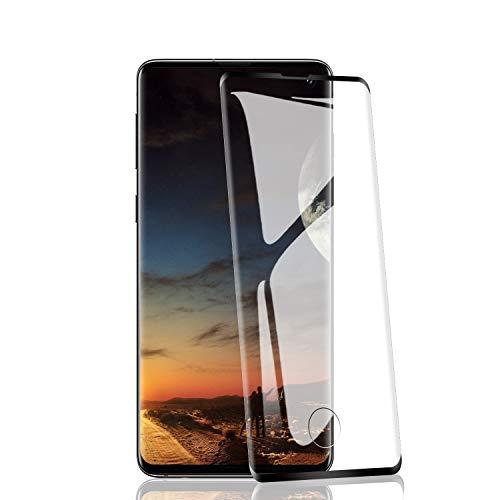 RIIMUHIR 2 Pezzi Vetro temperato per Samsung Galaxy S10, durezza 9H, AntiGraffio, HD Trasparente, Ultra-chiarezza, Alta sensibilità