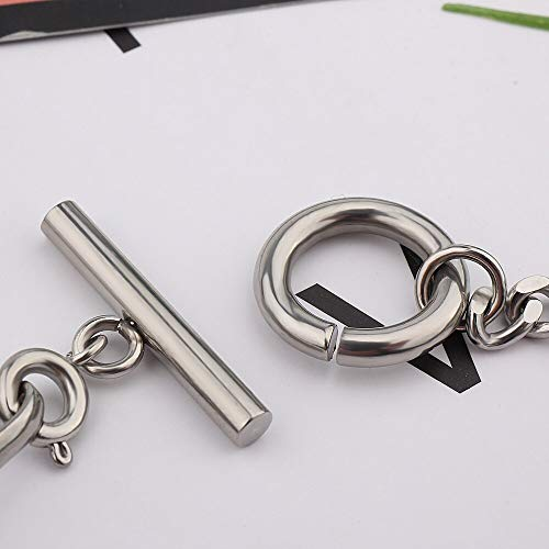 N/A Bracelet jewelry Stainless Steel Queen II Coin Charm Bracelet Mirror Polished Chain Bracelet For Women Valentine's Day present
