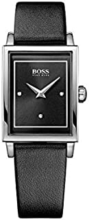 Hugo Boss Womens Quartz Watch, Analog Display and Leather Strap 1502348