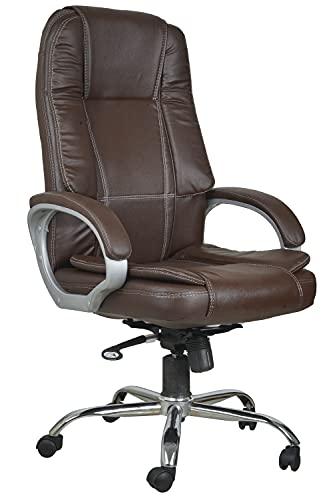 Casa Copenhagen High Back Leatherette Executive Office/Ergonomic Chair/Director Chair- Brown