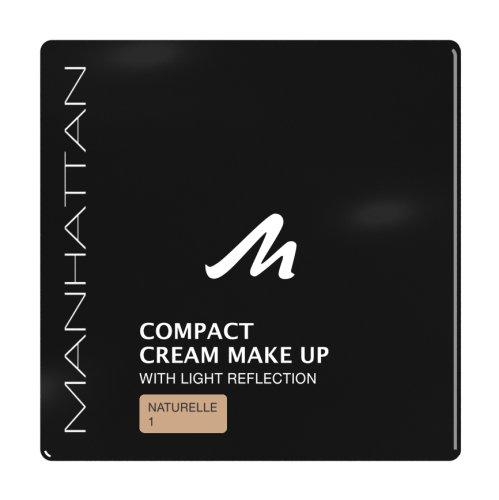 Manhattan Compact Cream Makeup, 1 naturelle, 3er Pack
