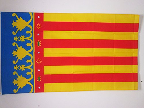 AZ FLAG Bandera de la Comunidad Valenciana 150x90cm - Bandera Valenciana 90 x 150 cm