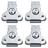 EWONICE 4Pack Steel Spring Loaded Small Butterfly Twist Latch and Keeper Zinc Toggle Clamp...