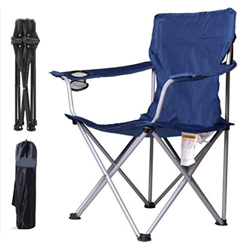 Sillas plegables para pesca al aire libre, para camping, para playa, mesas, sillas portátiles, azul, 50*50*90cm