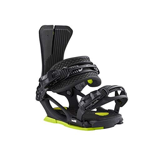 HEAD Unisex NX Six Snowboard-Bindungen, Schwarz/fluoreszierend, Größe S