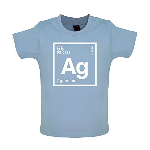 AGNES - Periodic Element - Baby / Toddler T-Shirt - Dusty Blue - 18-24 Months