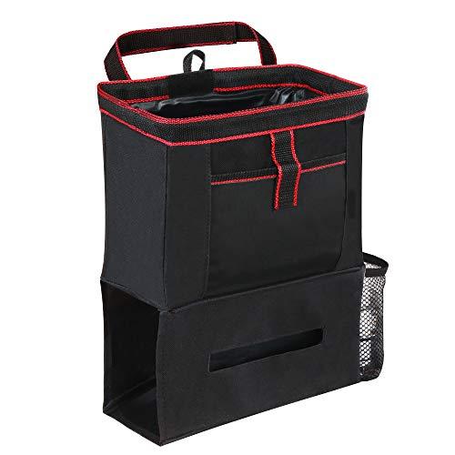 【2020年最新版】OJIA 車用 ゴミ箱 倒れない 大容量 防水 折り畳み式 コンパクト 転倒防止 高級感 おしゃれ ブラック