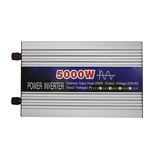 OKAYOU 5000W純粋な正弦波ligentストリングインバーターデュアルデジタルディスプレイパワーインバーターカーコンバーターアダプター、デュアルファン付き