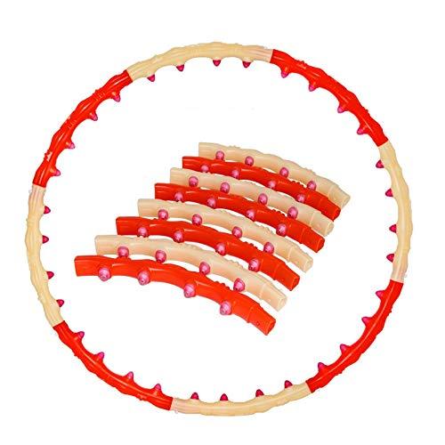 Ltjqsm Material de PE Masaje Ejercicio Deporte Hoop Fitness Circle Perde Peso Peso Inicio Culturismo Ejercicio Entrenamiento Fitness Equipos (Color : Yellow Orange Eight)