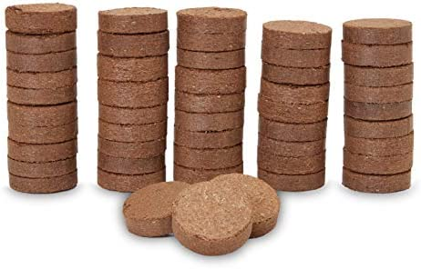 Compressed Coco Coir Plant Pot Disc 40 mm 50 Pack product image