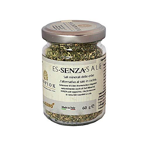 ES•SENZA•SALE : sali minerali delle erbe. Formula n.4 (Sedano, zucca, maggiorana, origano)
