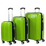 ITACA - Juego de Maletas de Viaje Rígidas 3 Pzs. Set Trolley 4 Ruedas (Cabina + Mediana + Grande) Resistentes y Robustas. Conjunto Equipaje Avión 760200, Color Pistacho