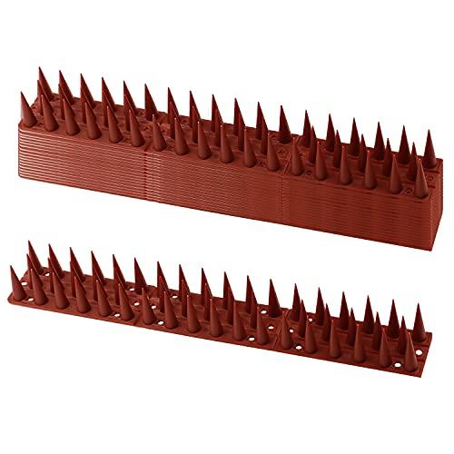 EXLECO 14 Pcs Pinchos para Defensa de Pájaros 33*4.5*3.5 cm 3 filas Sistema de Anti-Aves de Animales, para Gatos, Gorriones,...