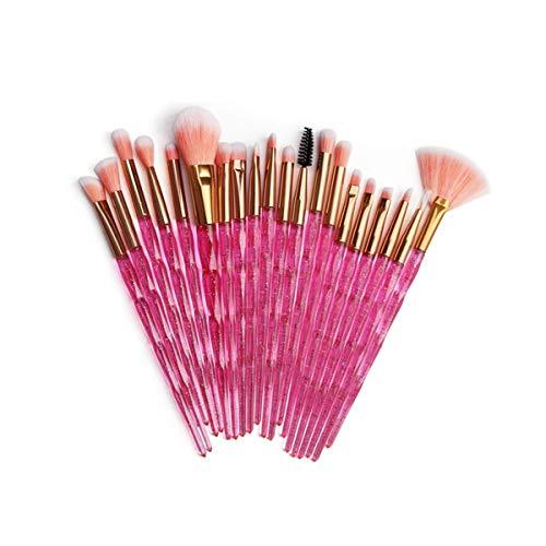 SNUIX Maquillage professionnel Brosses cristal pinceaux de maquillage Blending Brosse brosse cosmétiques (Couleur : 20Pcs, Size : One Size)