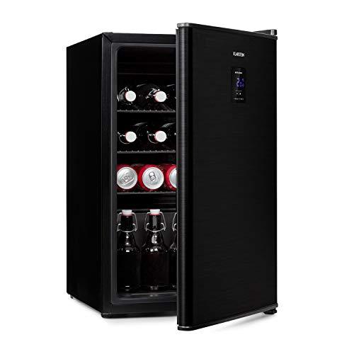 KLARSTEIN Beer Baron - Frigorifero per Bevande, Volume: 68 Litri, CEE A+, Temperatura: 0-10 °C, Pannello di Controllo Touch, 3 Ripiani a Griglia Regolabili, Nero
