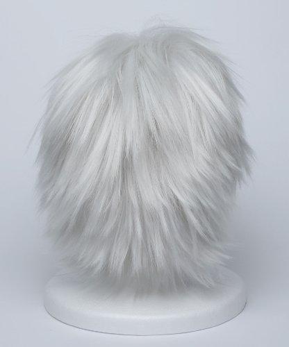 『【コスプレ】 ウィッグ NARUTO はたけカカシ 風 白髪 銀髪 衣装 道具 小物 ナルト ウィッグネット カカシ』の5枚目の画像