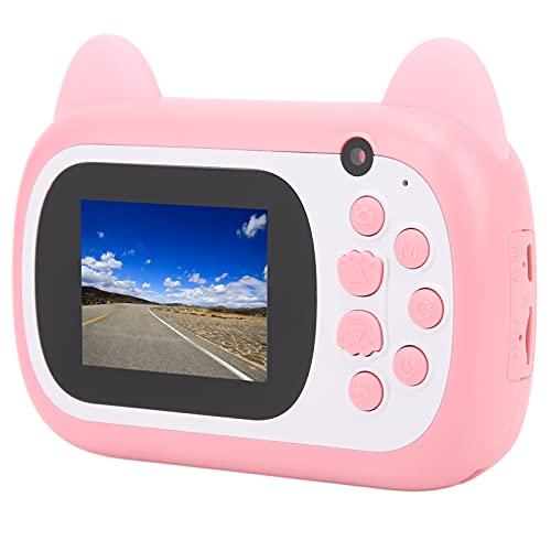 Estink Cámara Digital HD para Niños, Mini Cámara De Impresión Linda para Niños, Cámara De Video con Foto Selfie, Regalos para Niños